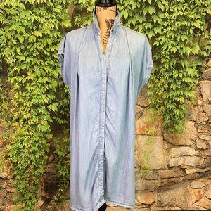 ETHEREAL Chambray Shirt Dress, L